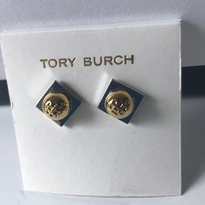 Nwot Tory Burch two time stud earrings